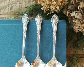 Vintage Rogers Mismatched Silver Plated Spoons Set of 3, Oneida Tea Party, Replacement Flatware