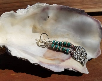 Turquoise and Sterling Silver Dangling earrings