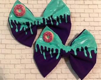 Purple with green Drip