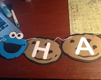 Cookie Monster Birthday Banner