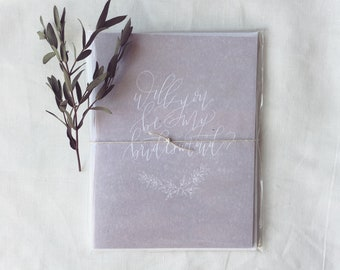 will you be my bridesmaid? greeting card - set of 3