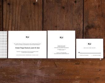 Minimalist Modern Wedding Invitations Template,Classic Modern Wedding Invite Digital Download,Modern Monogram Wedding Invitation Printable