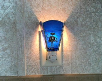 Robot Stained Glass Night Light