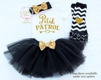 Petal Patrol Shirt, Flower Girl Shirt, Flower Girl Gift, Flower Girl Outfit, Flower Girl Headband, Rehearsal Dinner Gift, Wedding Gift FG3