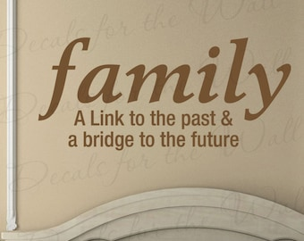 Family A Link To The Past And A Bridge To Our Future Wall Art