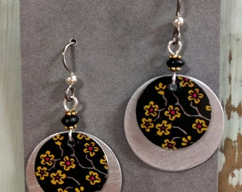 Mixed Metal Earrings from Recycled Materials