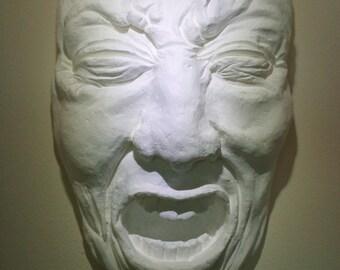 "Macabre Face Sculpture, ""Hiding No. 21, Process Study"""
