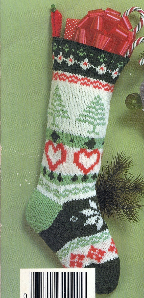 Knit Christmas Fair Isle Stocking Vintage Knitting Pdf Pattern