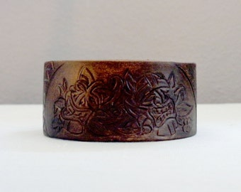 Leather Cuff by Artrix Leather and Fine art -Tiki