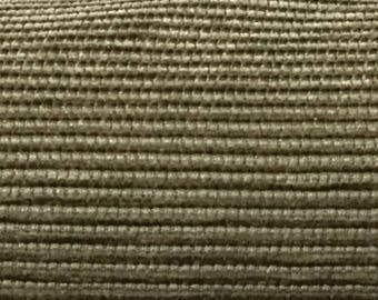 Green and Gold Chenille Woven - Upholstery Fabric By The Yard