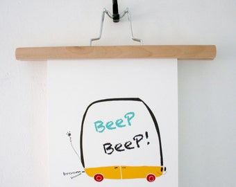 Print- Beep Beep Car-