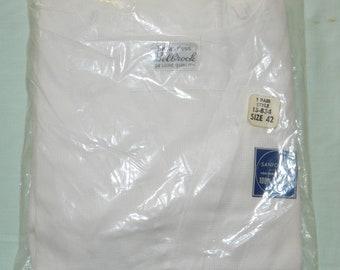 1940s Vintage NOS 1940s In Package Size 42 Mens Underwear White Unionsuit One Piece Underwear Sanforized Cotton Deadstock