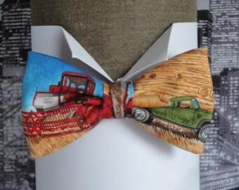 Bow tie, combine harvester bow tie, bow ties for men, pre tied bow tie