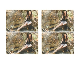 Brown Fairy Set of 4 Fantasy Art Placemats