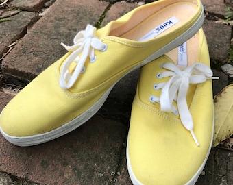 Backless Terrycloth Lined Vintage Keds Slip-ons 8.5 N