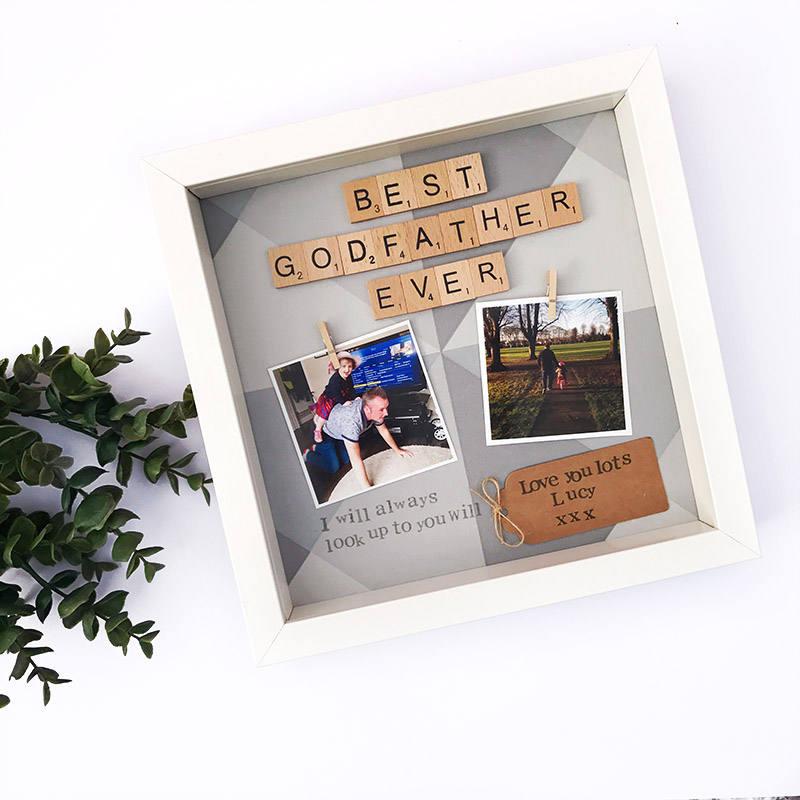 Godfather Gift Godparent Thank You Godfather Frame Scrabble