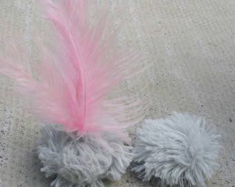 Fluffy Feather Balls with catnip/valerian