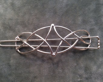 Large Diamond Celtic Knot Barrette, Celtic Hair Clip, Celtic Knot Hair Clip, Celtic Barrette, Celtic Knot Barrette, Celtic Hair Pin,