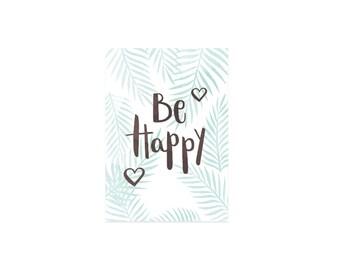 Postcard Be Happy