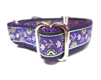 """Houndstown 3/4"""" Purple Daisy Chain Martingale Collar Size X-Small (6""""-10""""), Small (10""""-14""""), or Medium (14""""-18"""")"""