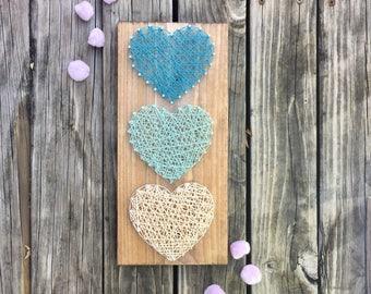 Heart String Art, String Art Heart, Wood Gift For Wife, Unique Wood Heart, Wood Gift For Mom, 5th Anniversary Gift, Unique Heart Sign