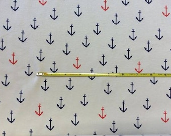 "NEW Anchors Aweigh Organic Cotton Interlock 42-44"" wide per yard"