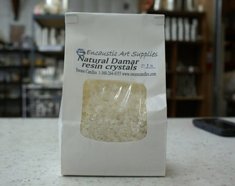 """Damar Resin Crystals ground to 1/4"""" or smaller 1 lb."""
