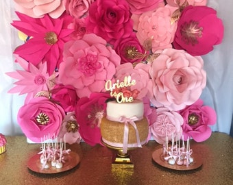 """Large Paper Flower Backdrop- 4"""" x 4"""" *****CUSTOMIZE YOUR ORDER*****"""