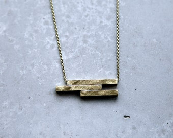 Offset Geo Tube necklace