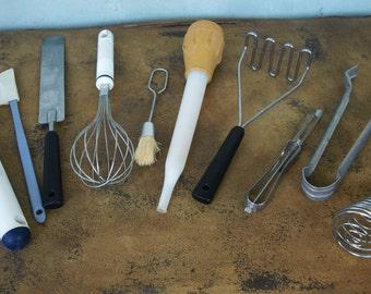 Assorted Vintage Utensils - 11 pieces / Tools