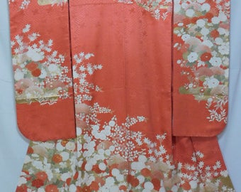 Japanese Brand New Furisode from Kyoto (with Rakkan)