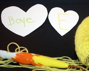 E Clay Handle Boye Hook