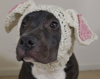 Crochet Dog Snood Beige Rabbit MADE TO ORDER