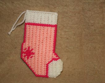 pink mini stocking ornament