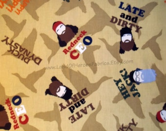 Duck Dynasty Cotton Fabric from Springs Creative Products Sold by the Fat Quarter, Half-Yard or Yard