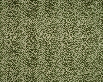SCALAMANDRE CORBET ANIMAL Striped Loop Cut Velvet Fabric 10 Yards Cream Sage Green