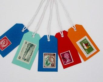 Gift tags vintage stamp design
