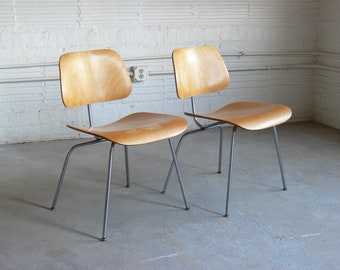 Early Eames for Herman Miller Plywood Side Chairs-DCM (Set of 2)