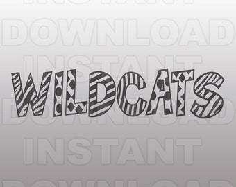 Wildcats SVG File - Wildcats Sports SVG File - Varsity SVG - Vector Clip Art-Commercial & Personal Use-Cricut Design Space, Silhouette Cameo