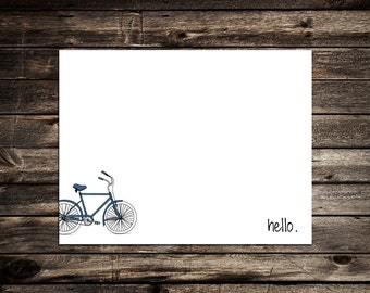Vintage Men's Bicycle Note Card