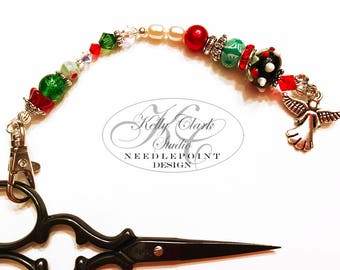Christmas Angel Scissor Fob
