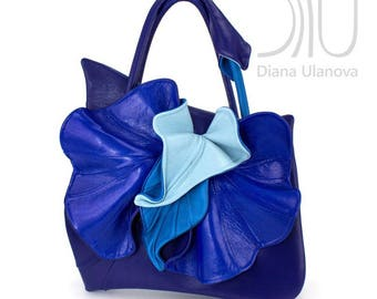 Leather Handbag | Personalized Bag | Handmade Bag | Genuine Leather Bag | Personalized Handbag | Floral Bag | Leather Handbag Orchid Classic