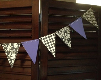 Bridal Shower Bunting Banner, Bunting Banner, Vintage Banner- Can be customized.