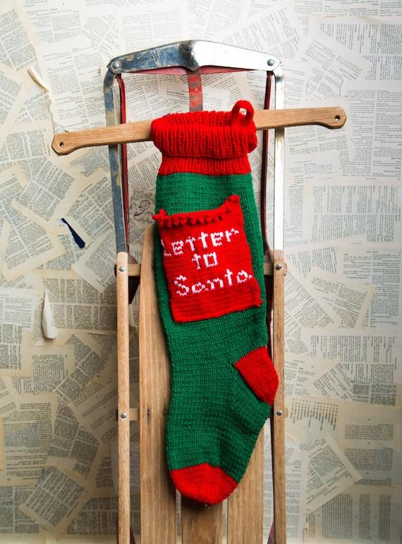 Letter to santa stocking christmas stocking christmas spiritdancerdesigns Gallery