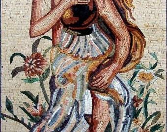 Woman Marble Mosaic