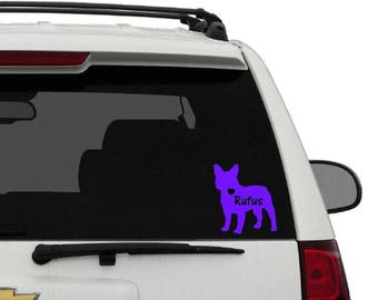 French Bulldog Vinyl Sticker     Frenchie Decal     Frenchie Love