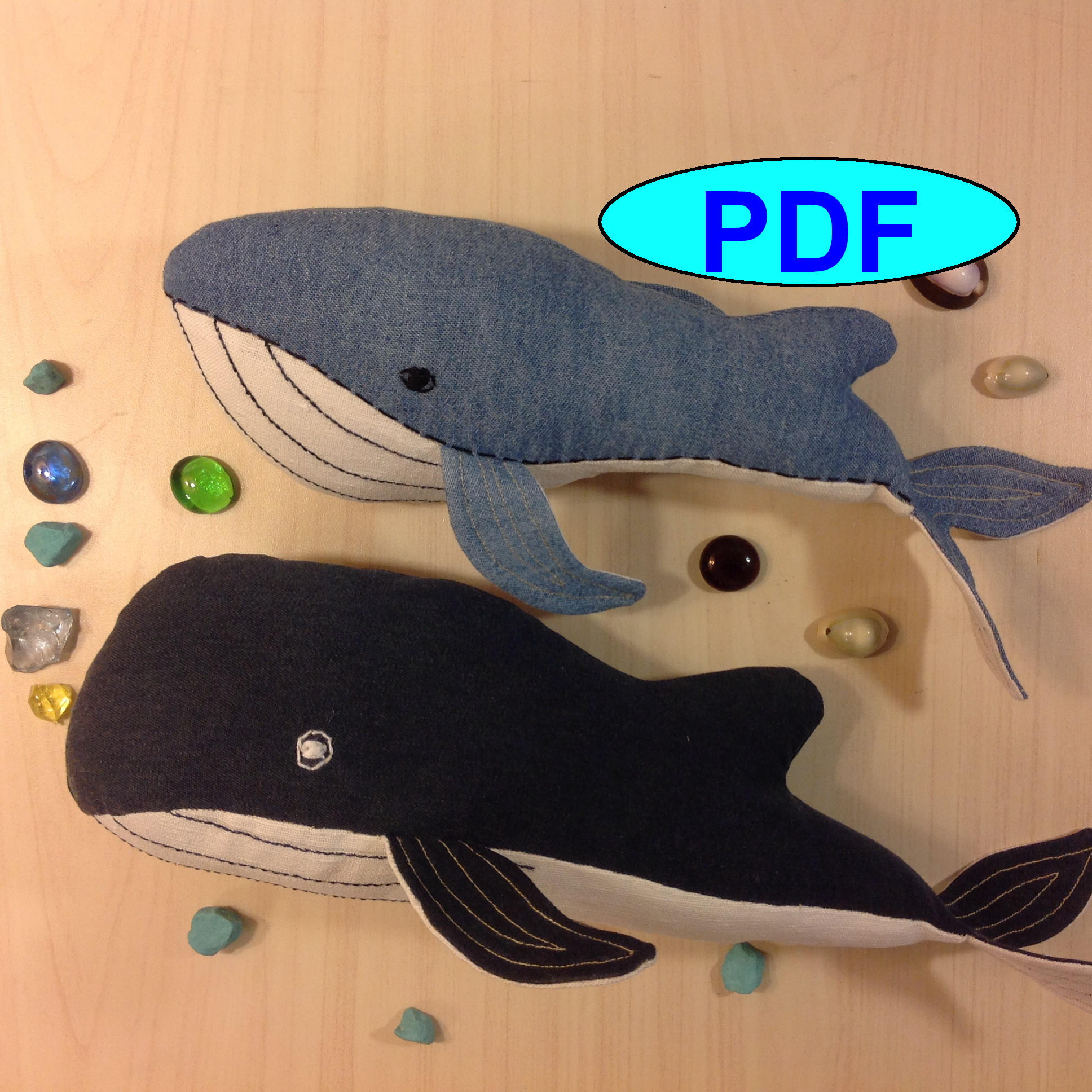 Enchanting Whale Pattern To Sew Photos - Decke Stricken Muster ...