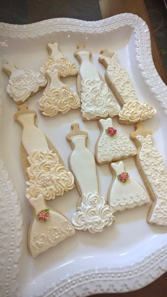 Wedding Gown Cookies - Marinold Cakes