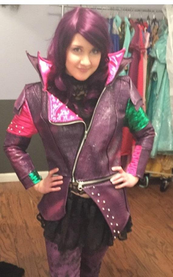 Beautiful Custom Made Disney Descendants Mal costume faux leather SM93