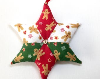 Gingerbread Decorative Christmas Stars. Handmade Country Cottage, Festive  Home Decor, Gift Ideas,